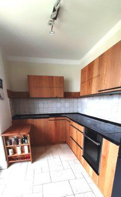Küche, 3-Schichtplatte Eiche astig geölt, Arbeitsplatte Granit