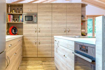 Küche, Dekorplatte Eiche grau